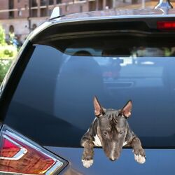 Miniature Bull Terriers Car Decal Dogs Car Stickers Pets Decal Vinyl 12x12quot;