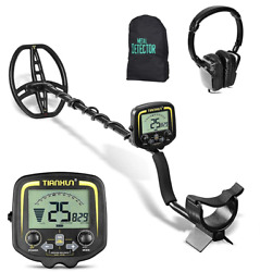 Professional Metal Detector With Clear Lcd Screen, Detection Depth 2.5m Black