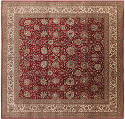 Square Fine Traditional Hand Knotted Wool Rug 12' 0 X 12' 2 - Q11349