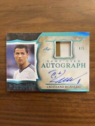 Cristiano Ronaldo In The Game Used Autograph Game Used Jersey /5 Cr7