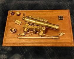 Vintage Miniature Brass Naval Cannon Made By Valley Cannon Works