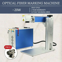 20w Raycus Fiber Laser Engraver Marking Machine Engraving And Rotary Axis 110v
