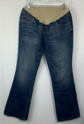 Old Navy Womenand039s Blue Denim Maternity Jeans Boot Cut Full Panel Casual Size 10