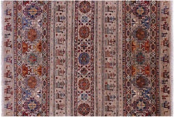 Tribal Gabbeh Hand-knotted Rug 5' 6 X 7' 11 - Q11313