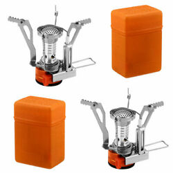 2 Portable Camping Stoves Backpacking Stove with Piezo Ignition Adjustable Valve $14.99