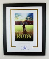 Rudy Sean Astin Autographed Signed 16x20 Framed Poster Photo Notre Dame Acoa