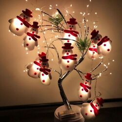 2021 New 10 Led Christmas Lighted Snowman Home Indoor Outdoor Xmas Tree Decor