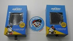 Chibi Disney 2-coin Set Mickey And Minnie Mouse 1 Oz Silver Proof Le2000