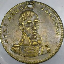 1828 A Jackson 1/hero 2b R-6 Kettle Campaign Token Hero Of New Orleans