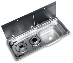 Smev Dometic 9722 Campervan Sink And Cooker / Hob Combi Unit And Template