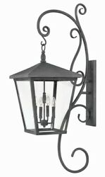 Trellis - 4 Light Extra Large Outdoor Wall Lantern With Scroll In Traditional