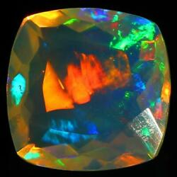2.95 Cts Color Play Opal Ethiopia Square Shape Gemstone With Free Shipping