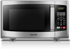 Toshiba Em925a5a-ss Microwave Oven With Sound On/off Eco Mode And Led Lighting,