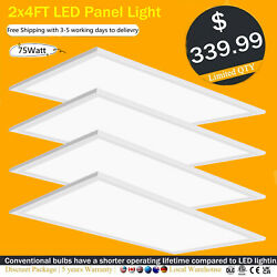 Usa 2x4ft 75w Office Lighting Led Panel Light Recessed Ultra-thin Ceiling Lamp