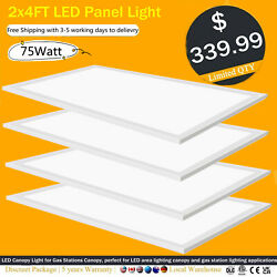 2 X 4 Led Troffer Panel Light 75w 5000k White Drop Ceiling 20 Pack Dimmable