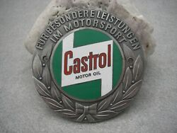 Rare Vintage Castrol Motorsport Award Enamel Badge From The 1950andacutes To 1960andacutes