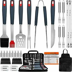 Grill Accessories Bbq Tools 31 Pcs Grill Set Heavy Duty Stainless Steel Utensils