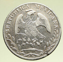 1880 Cn Jd Mexico Big Silver 8 Reales Antique Vintage Mexican Coin Eagle I95158