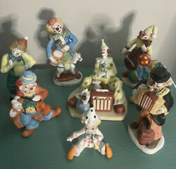 Vintage Mickey The Musician Clown 1987 House Of Global Art And 7 Clowns Musicians