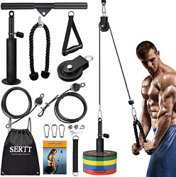 Sertt Lat And Lift Pulley System Gym Upgraded Diy Fitness Pulley Cable Machine
