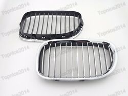 2x Front Landr Hood Grill Bumper Grilles Chrome For Bmw 7-series F01 F02 2009-2012