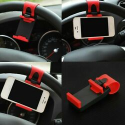 New Universal Car Steering Wheel Cradle Stand Cell Phone Mount Holder Clip