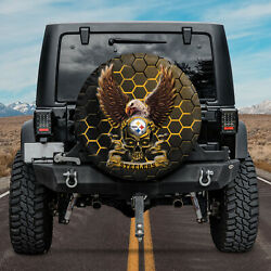 Spare Tire Cover For Jeep Car Decor 3d Fans Pittsburgh Steelers Football Nlf04