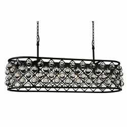 The Gray Barn Drum Cloondance 7-light Linear Chandelier With Black