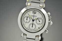 Mens Midsize Pasha C Chronograph 36.5mm Stainless Steel Automatic 2412