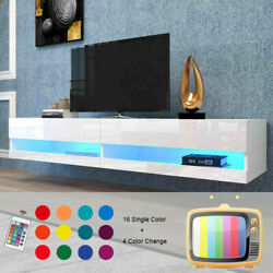 80 Tv Stand 180 Wall Mounted Floating With 20 Color Led Hanging Tv Consoles