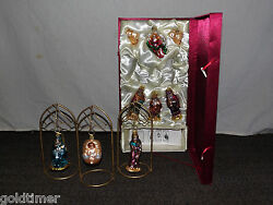 Vintage 9 Christmas Tree Ornaments Mint In Box