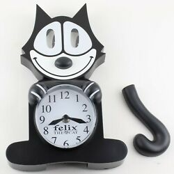 Felix The Cat Motion Animated Wall Clock Eyes Tail Sway Broken Tail