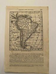 Kp212 Map Of South America Brazil Colombia Bolivia Chile 1877 Engraving