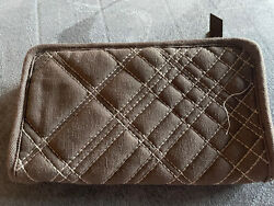 Thirty One Quilted Brown Quilted Pick Me Plaid Zip Soft Wallet