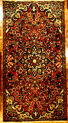 Antique 4x7 Coral Hand Knotted Wool Victorian Era Oriental Style Rug