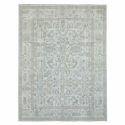 9'x12' Ivory Angora Oushak Pure Wool Hand Knotted Oriental Rug R69080
