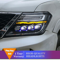 Led Headlights For Nissan Armada 2017-2020 Led Drl Sequential Turn Signal Lights