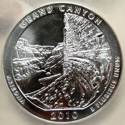 2010 United States Grand Canyon 5 Oz Prooflike Silver State 25c Coin Pcgs I95246