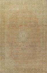 Antique Muted Ardakan Floral Evenly Low Pile Handmade Area Rug Palace Size 11x15