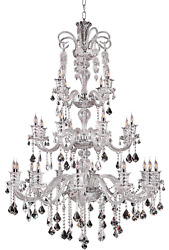 Asfour Crystal Foyer Dining Room Kitchen Island 24 Light 63 Large Chandelier