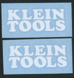 2x KLEIN TOOLS 6quot; White Decals Stickers for Cars Trucks Windows Toolbox...