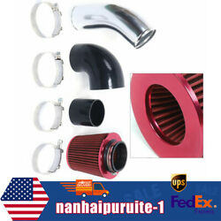 Red Cold Air Intake Pipe Filter Kit W/ Hosesandclamps For Gm Ls1 Lsx Lmx Lqx Motor