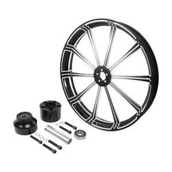 26and039and039x3.5and039and039 Front Wheel Rim Hub Fit For Harley Touring Electra Street Glide 08-21