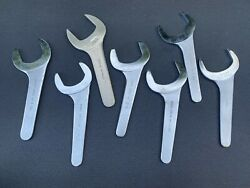 7 Pc. Vintage Utica Bonney Armstrong Aircraft Service Hydraulic Wrenches 2-9/16