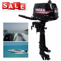 6hp 2stroke Outboard Motor Fishing Boat Motor Engine Water Cooling 102cc Used