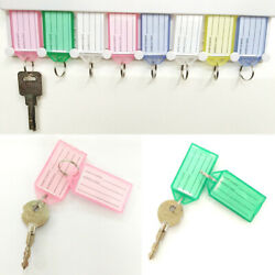 1/5/10pcs Plastic Key Tags Container Key Labels With Ring Andlabel Window 4colors