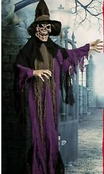 Halloween Prop Decoration Haunted Hill Farm Life-size Skeleton Witch Indoor