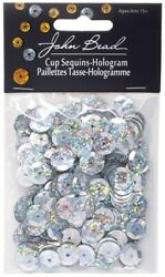John Bead 13000110-00 Silver -sequin Rounds 10mm