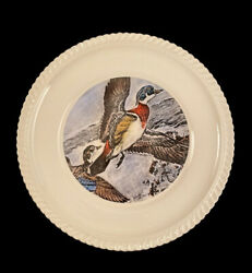Set Of 5 Ll Bean Charles De Feo Signed Wood Ducks 10.25 Plates Hand Colored