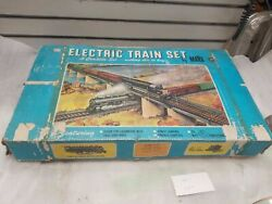 Vintage Marx Toy Train Set 1960and039s O Guage Orig Box Electric Steam Engine Cars
